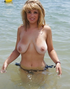 Busty wives without bras and swimsuits..