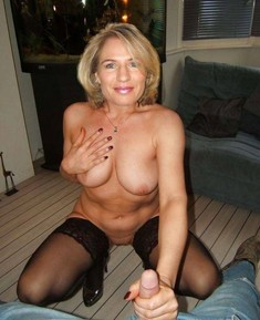 Charming wife shows her naked huge..