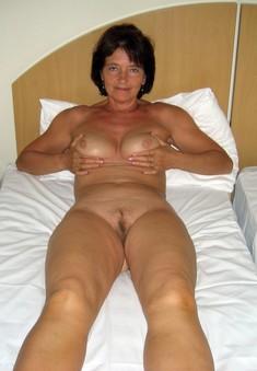 Fifty-year-Beautiful woman posing for..