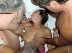 The hubby sharing his horny wife,..