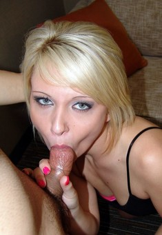 Blue-eyed blonde greedily sucks hard..